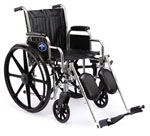 Excel 2000 Wheelchair w/ Perminant Full Length Arms / Footrests (18
