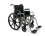 K1 Basic Wheelchair w/ Removable Desk Length Arms (18in black)
