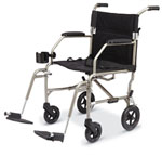 Excel Freedom Transport Wheelchair w/ Detachable Footrests (19
