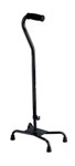 Small Base Quad Cane, Black (Single)