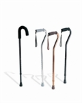 Aluminum Offset Handle Cane, Black