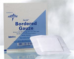 Bordered Gauze, 2x2in w/ a 1x1