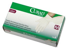 Curad powder-free latex exam gloves (10 boxes)