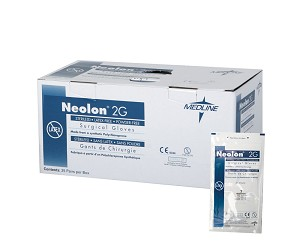 Neolon 2G PF Neoprene Surgical Gloves (Box of 25 Pair)