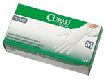 Curad Stretch Synthetic Vinyl Gloves  (Latex-Free/Powder-Free)  - 10 Boxes