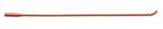 Sterile Red Rubber Coude-Style Urethral Catheter 14FR (case of 12)
