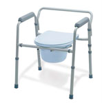 Folding Steel 3-in-1 Commode