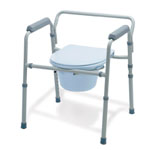 Folding 3-in-1 Steel Commode