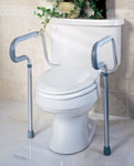 Toilet Seat Frame w/ Adjustable Rails