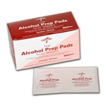 Alcohol Prep Pads  (Box of 100)