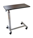 Medline Overbed Walnut Table w/ Chrome Base