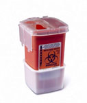 Portable Phlebotomy Sharps Container / 1qt