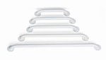 White Enamel Grab Bar  24in  (Case of 3)