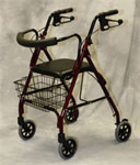 Deluxe Rollator w/ Curved Back by Medline
