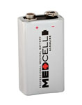 Medcell Alkaline Batteries, 9V (Box of 12)