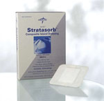 Stratasorb Composite Island Dressing / 4in x 10in (Box of 10)