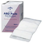Abdominal (ABD) Pads / 8in x 10in / Sterile (Box of 18)