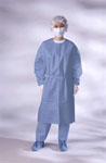Isolation Gown / Closed Back w/ Elastic Cuff - Blue (Case of 50)