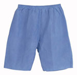 Disposable Shorts Elastic Waist Blue / Large (Case of 30)