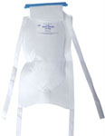 Ice Bag w/Clamp-Closure / 4 Ties / White / 6.5