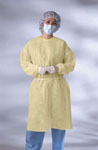 Yellow Isolation Gown w/Elastic Wrist - Level 1 / Regular Size (Case of 50)