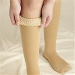 Truform Classic Medical Open Toe 20-30 mmHg Knee High Silicone Dot Top