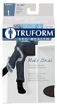 TRUFORM Men's 15-20 mmHg Casual and Athletic Knee High Socks