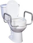 Premium Raised Toilet Seat with Removable Arms by Drive