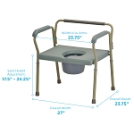 Heavy Duty Commode with Extra Wide Seat by Nova (Model# 8582)