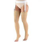TRUFORM Classic Medical OPEN TOE 20-30 mmHg Thigh High Support Stockings
