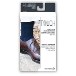 Touch Men's Fine Checkered Pattern 15-20 mmHg Knee Highs