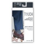 Touch Men's Herringbone Pattern 15-20 mmHg Knee Highs