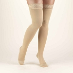 TRUFORM Classic Medical Closed Toe 20-30 mmhg Thigh High Silicone Lace Top