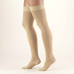 Truform Classic Medical Open Toe 20-30 mmHg Thigh High Silicone Dot Top