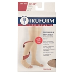 TRUFORM Classic Medical OPEN TOE 30-40 mmHg Thigh High Support Stockings