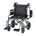 22 inch Transport Chair with 12