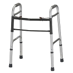 Silver Adult Standard Folding Walker by Nova (Model# 4090)
