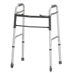 Silver Folding Walker w/ 3 Wheels by Nova (Model#  4090DW3)