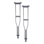 Pediatric Aluminum Crutch by Nova (Model# 7203) > (CALL BEFORE PLACE ORDER)
