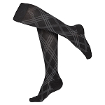 Touch Ladies' Argyle Pattern 15-20 mmHg Knee Highs