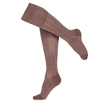 Touch Ladies' Fine Checkered Pattern 15-20 mmHg Knee Highs