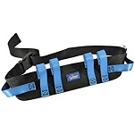 Secure Transfer and Walking Gait Belt w/ Six Caregiver Hand Grips & EZ Release Plastic Buckle