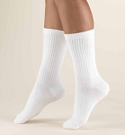 TRUFORM Men's 15-20 mmHg Crew Length Athletic Socks