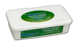 Aloetouch Scented Wipes - 9' x 13'  48/tub