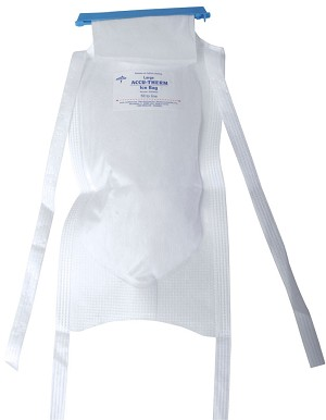 "Ice Bag w/Clamp-Closure / 4 Ties / White / 6.5"" x 14""  (Case of 50)"